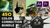450 color correction bundle ae pr icon