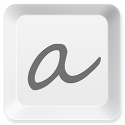 Atext typing accelerator with frequently used phrases icon